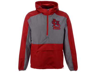 St. Louis Cardinals G-III Sports MLB Men's Leadoff Hooded Half Zip Pullover Hoodie