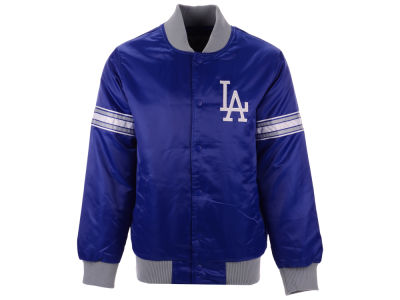 Los Angeles Dodgers G-III Sports MLB Men's Coop Veteran Satin Jacket