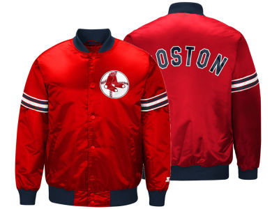 Boston Red Sox Starter MLB Men's Coop Veteran Satin Jacket