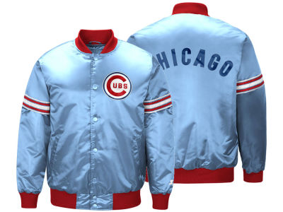 Chicago Cubs Starter MLB Men's Coop Veteran Satin Jacket