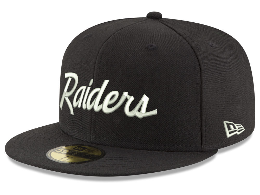 05c51f5b48c Oakland Raiders New Era NFL Retro Script 59FIFTY Cap