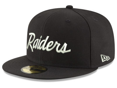 Oakland Raiders New Era NFL Retro Script 59FIFTY Cap