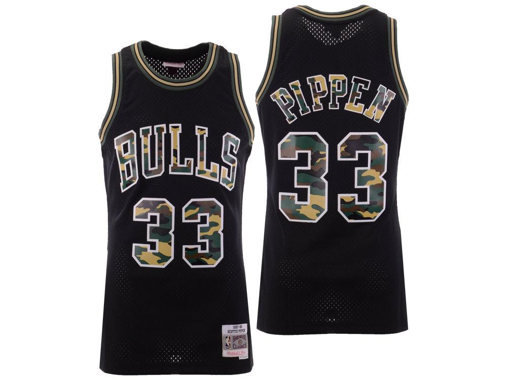 Chicago Bulls Scottie Pippen Mitchell   Ness NBA Men s Straight Fire Camo  Jersey  049f35bd2