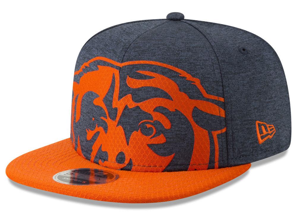 Chicago Bears New Era NFL Over Sized Laser Cut 9FIFTY Snapback Cap ... 25b941f73620