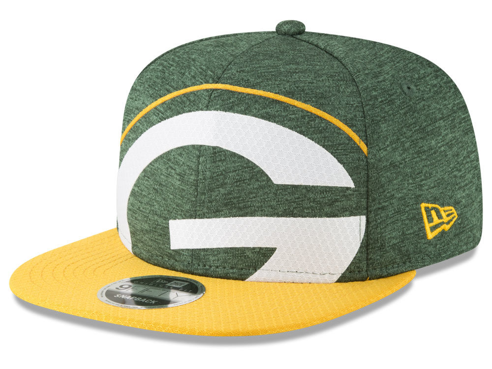Green Bay Packers New Era NFL Over Sized Laser Cut 9FIFTY Snapback Cap  77c166047a1