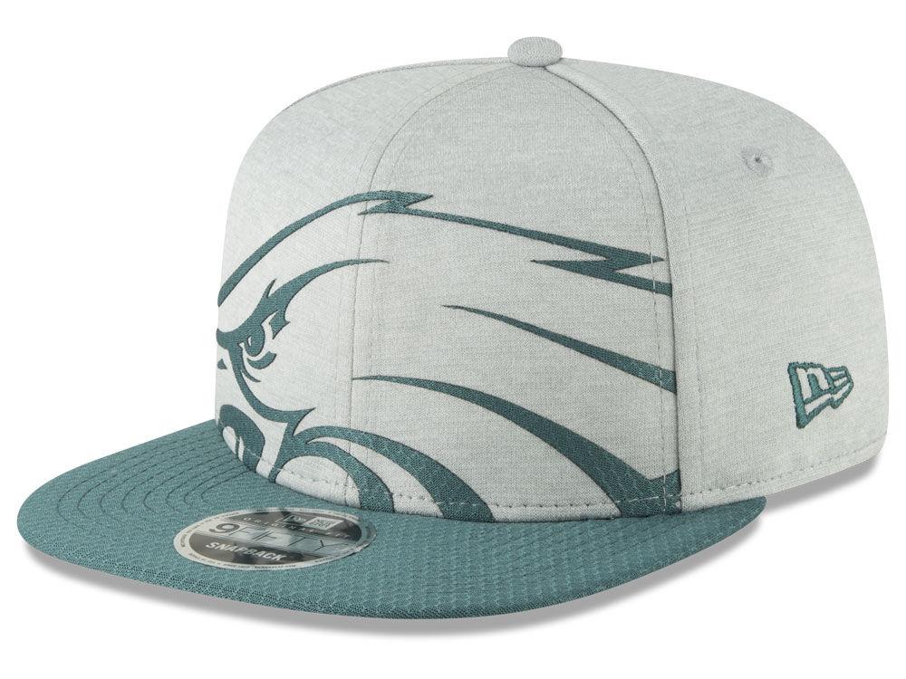 Philadelphia Eagles New Era NFL Over Sized Laser Cut 9FIFTY Snapback Cap  c0f491d0a