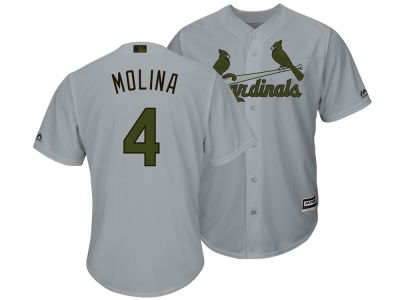St. Louis Cardinals Yadier Molina Majestic MLB Men's Memorial Day Cool Base Jersey