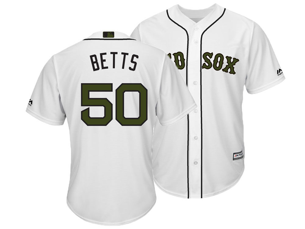 Boston Red Sox Mookie Betts Majestic MLB Men s Memorial Day Cool Base Jersey   e46c215517f