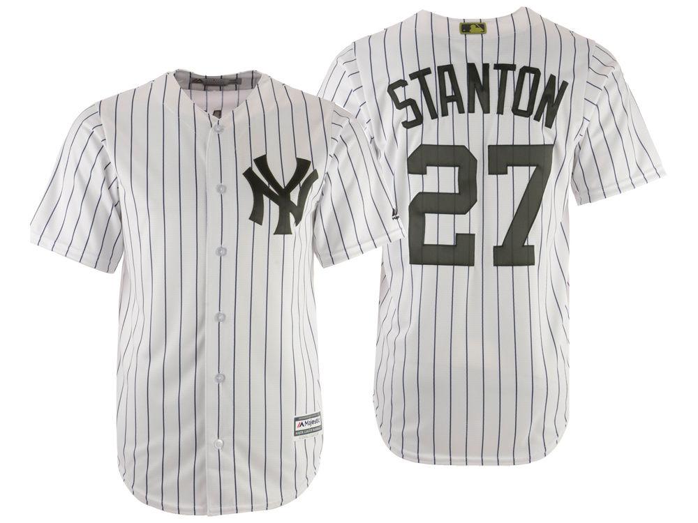 New York Yankees Giancarlo Stanton Majestic MLB Men s Memorial Day Cool  Base Jersey  0db53bd8779