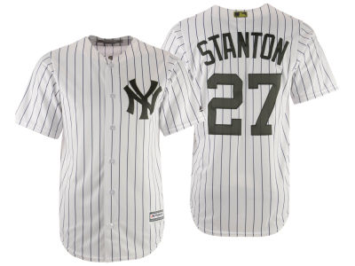 New York Yankees Giancarlo Stanton Majestic MLB Men's Memorial Day Cool Base Jersey