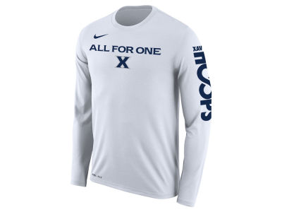 Xavier Musketeers Nike 2018 NCAA Men's Legend Bench Long Sleeve T-Shirt