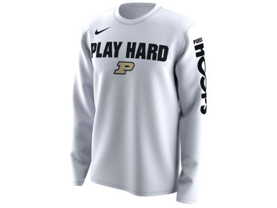 Purdue Boilermakers Nike 2018 NCAA Men's Legend Bench Long Sleeve T-Shirt