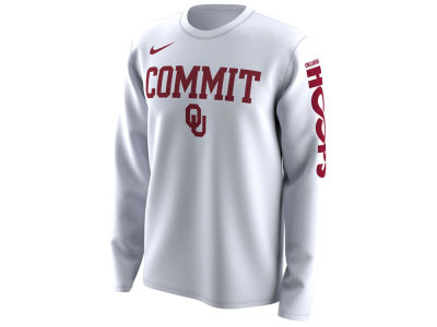 Oklahoma Sooners Nike 2018 NCAA Men's Legend Bench Long Sleeve T-Shirt