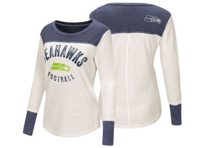 Seattle Seahawks Touch by Alyssa Milano NFL Women's Touch Thermal Long Sleeve T-Shirt