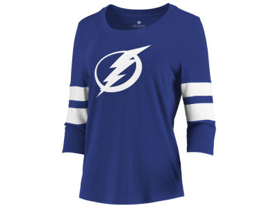 Tampa Bay Lightning Majestic NHL Women's Let Loose Raglan T-Shirt