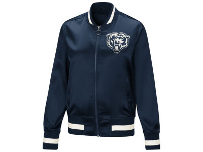 Chicago Bears Touch by Alyssa Milano NFL Women's Touch Satin Bomber Jacket