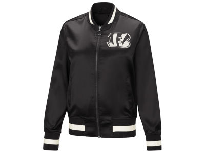 Cincinnati Bengals Touch by Alyssa Milano NFL Women's Touch Satin Bomber Jacket