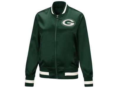 Green Bay Packers Touch by Alyssa Milano NFL Women's Touch Satin Bomber Jacket