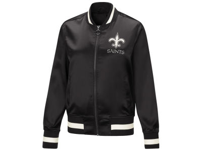 New Orleans Saints Touch by Alyssa Milano NFL Women's Touch Satin Bomber Jacket