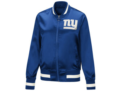 New York Giants Touch by Alyssa Milano NFL Women's Touch Satin Bomber Jacket