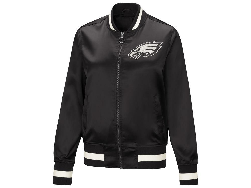 Philadelphia Eagles Touch by Alyssa Milano NFL Women s Touch Satin Bomber  Jacket  6fd5f5d2f6