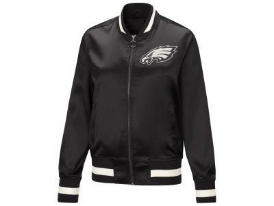 Philadelphia Eagles Touch by Alyssa Milano NFL Women's Touch Satin Bomber Jacket