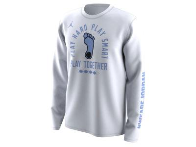 North Carolina Tar Heels Jordan 2018 NCAA Men's Legend Bench Long Sleeve T-Shirt
