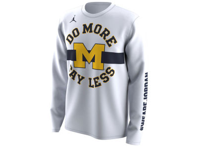Michigan Wolverines Jordan 2018 NCAA Men's Legend Bench Long Sleeve T-Shirt