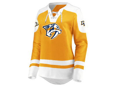 Nashville Predators Majestic NHL Women's Centre Lace up Crew Sweatshirt