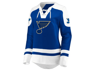 St. Louis Blues Majestic NHL Women's Centre Lace up Crew Sweatshirt