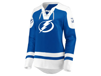 Tampa Bay Lightning Majestic NHL Women's Centre Lace up Crew Sweatshirt