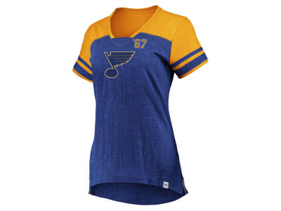 St. Louis Blues Majestic NHL Women's Hyper V-Neck T- Shirt