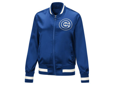 Chicago Cubs Touch by Alyssa Milano MLB Women's Touch Satin Bomber Jacket