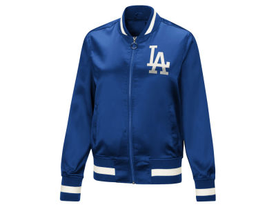 Los Angeles Dodgers Touch by Alyssa Milano MLB Women's Touch Satin Bomber Jacket