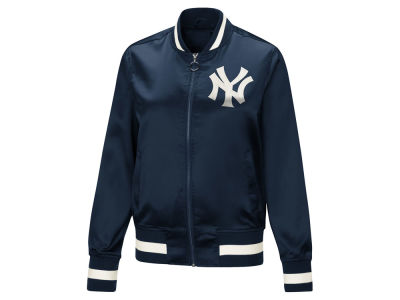 New York Yankees Touch by Alyssa Milano MLB Women's Touch Satin Bomber Jacket