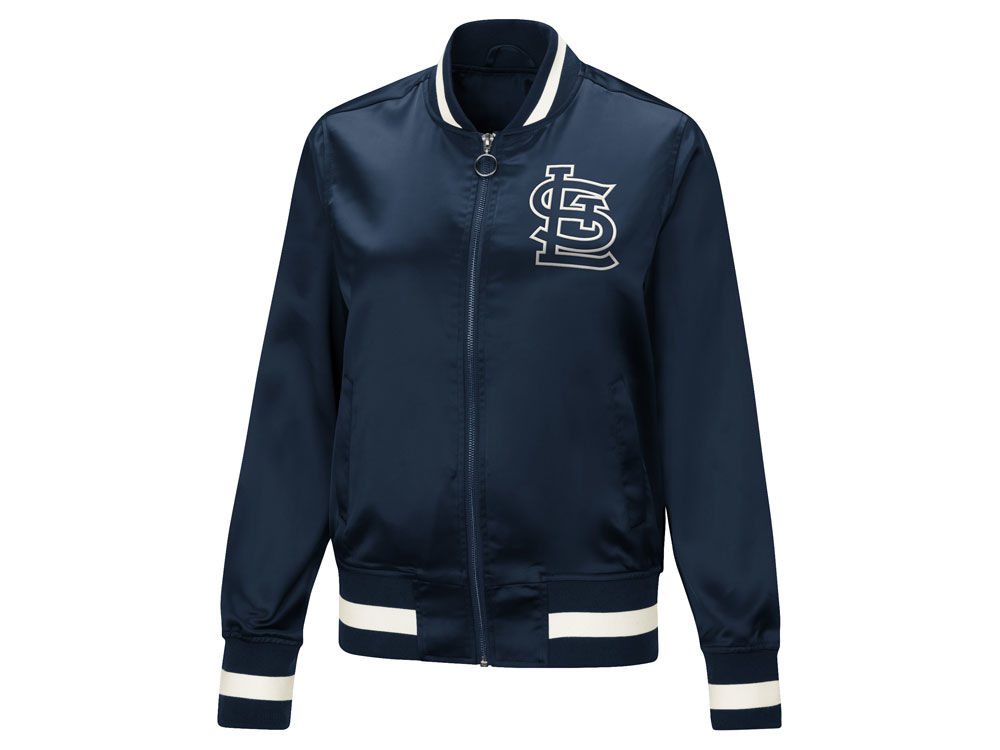 St. Louis Cardinals Touch by Alyssa Milano MLB Women s Touch Satin Bomber  Jacket  7df6b6457