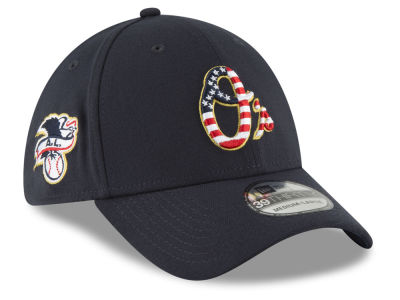 Baltimore Orioles New Era 2018 MLB Stars and Stripes 39THIRTY Cap