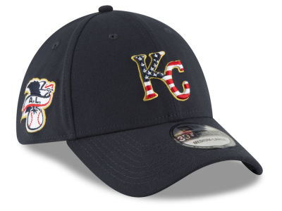 Kansas City Royals New Era 2018 MLB Stars and Stripes 39THIRTY Cap