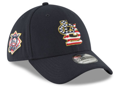 St. Louis Cardinals New Era 2018 MLB Stars and Stripes 39THIRTY Cap