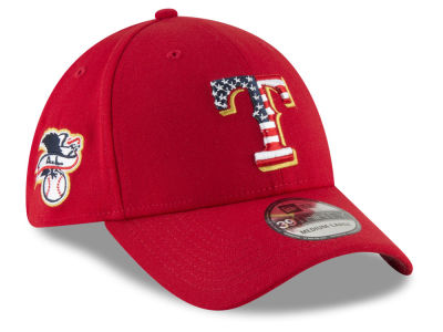 Texas Rangers New Era 2018 MLB Stars and Stripes 39THIRTY Cap