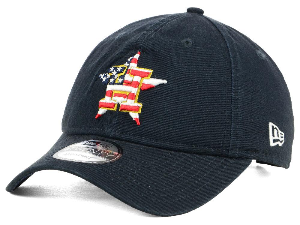 b6d551e7b60 Houston Astros New Era 2018 MLB Stars and Stripes 9TWENTY Cap
