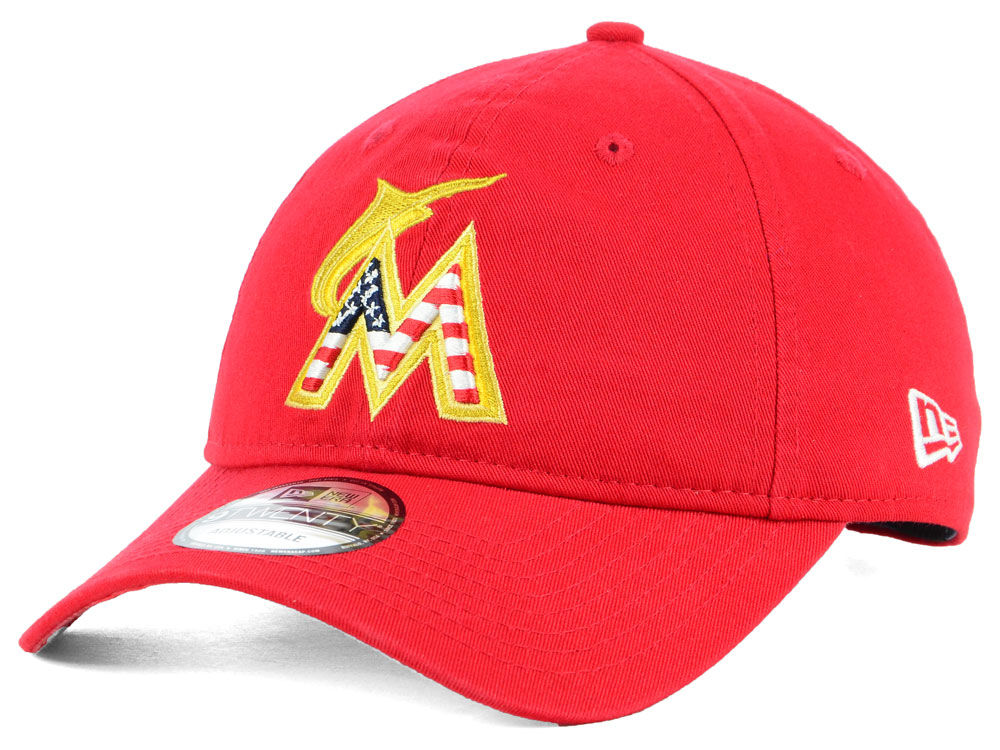 low priced 6032b 3981f buy miami marlins new era 2018 mlb stars and stripes 9twenty cap lids e288a  6abcd