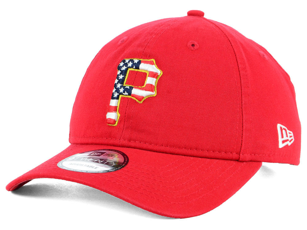 Pittsburgh Pirates New Era 2018 MLB Stars and Stripes 9TWENTY Cap ... 145e9369422d