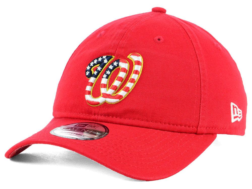 Washington Nationals New Era 2018 MLB Stars and Stripes 9TWENTY Cap ... 05025d5627d