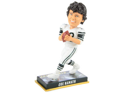 "New York Jets Joe Namath Forever Collectibles 8"" Retired Player Bobbleheads"