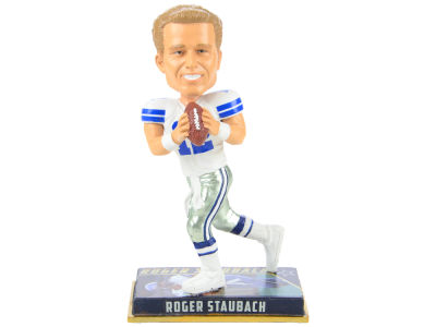 "Dallas Cowboys Roger Staubach Forever Collectibles 8"" Retired Player Bobbleheads"