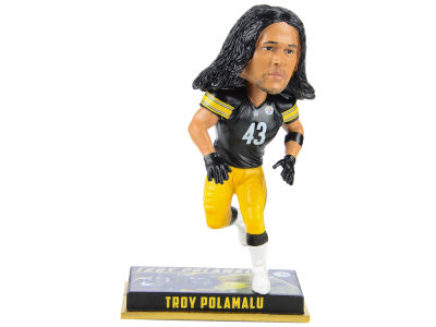 "Pittsburgh Steelers Troy Polamalu Forever Collectibles 8"" Retired Player Bobbleheads"