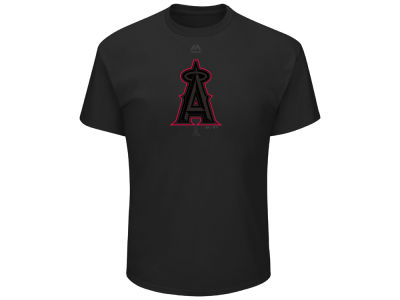 Los Angeles Angels MLB Men's Pitch Black Focus T-Shirt