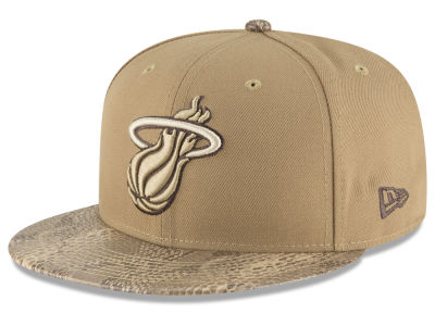 443d5d6c1e6 Miami Heat New Era NBA Snakeskin Sleek 59FIFTY Cap