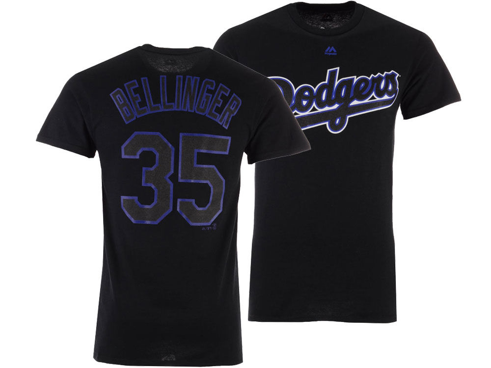 c8eb6508b Los Angeles Dodgers Cody Bellinger Majestic MLB Men s Pitch Black Player T- Shirt